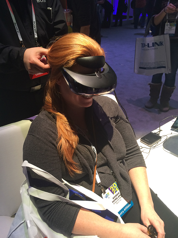 Sony VR headset CES 2014 Central Hall