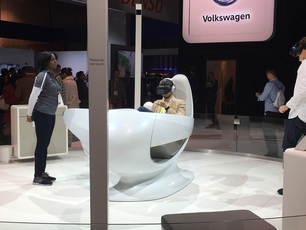 Volkswagen VR exhibit featuring HTC Vive at CES 2017